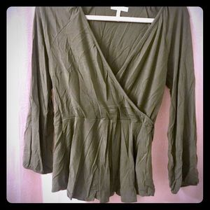Womens Old Navy Olive Green Top